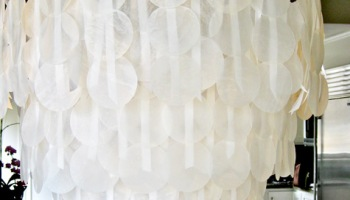 Wax Paper Chandelier Wax paper lanterns crafterholic wax paper shell chandelier audiocablefo