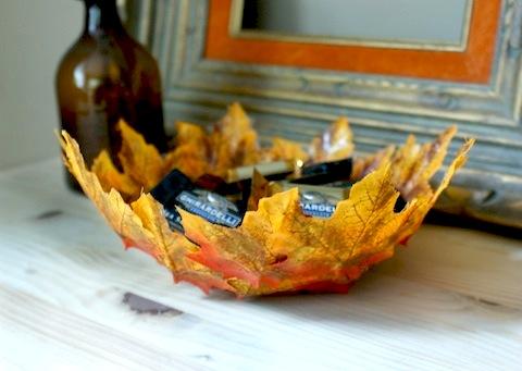 Decoupage Leaf Bowl \u2013 Crafterholic