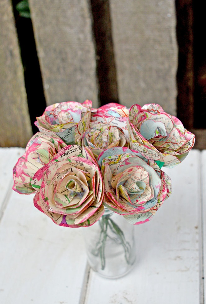 map-flowers-roses-diy