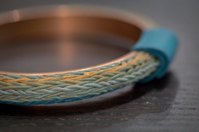 knitted polymer bracelet