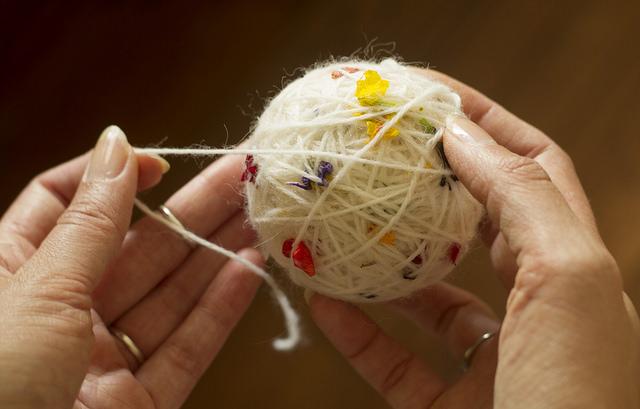 petal dyed yarn