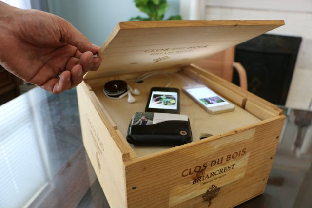 wine crate electronics charger