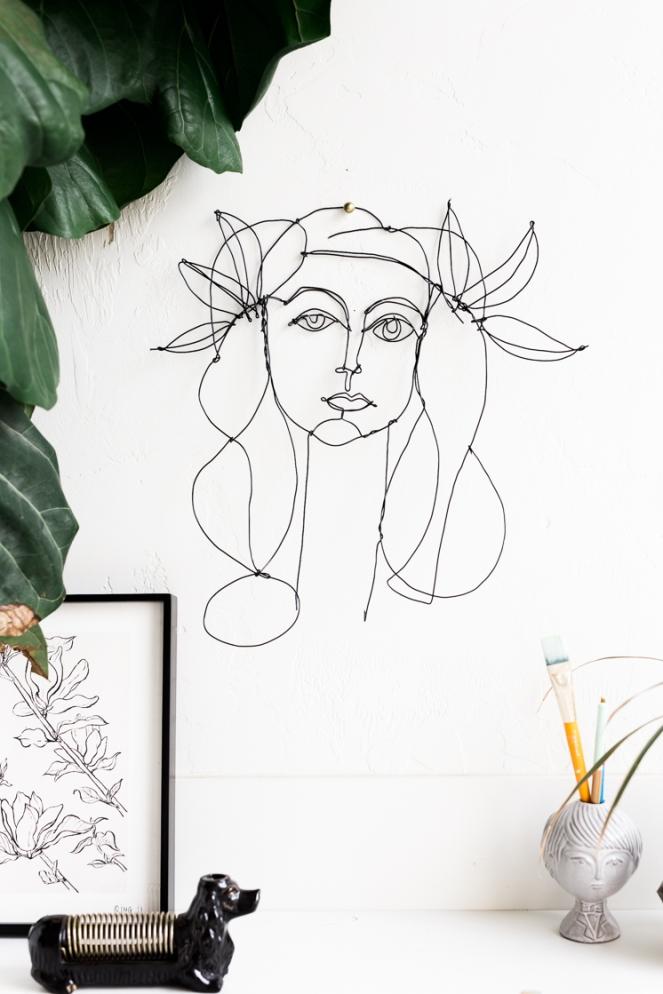 diy-wire-portrait sculpture