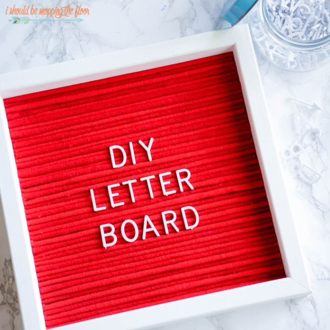 how to make a letterboard