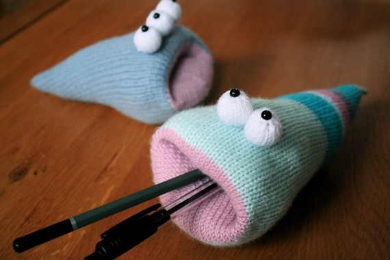ButterflyLove1 - knitted desk worm