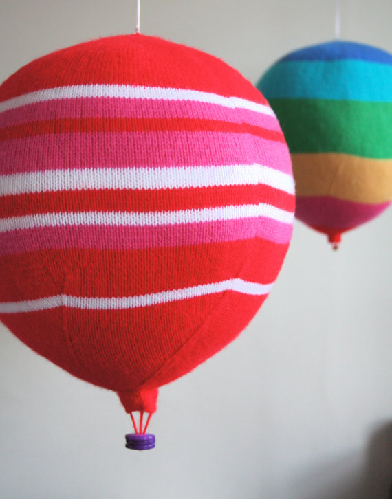 ButterflyLove1 - knitted hot air balloon