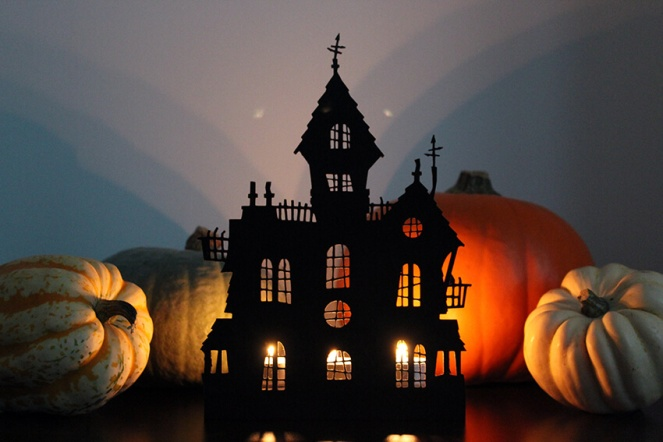 light up halloween haunted house