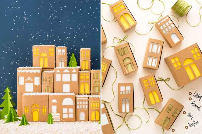 city building gift wrap idea