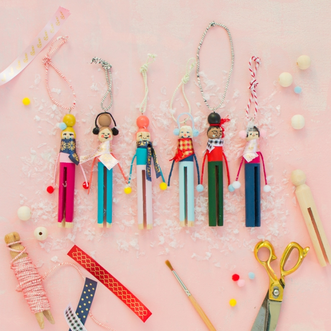 Clothespin diy-Ornaments