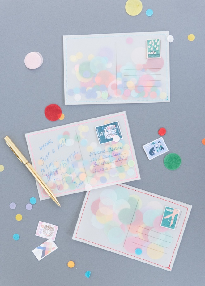 Confetti-Post-Cards