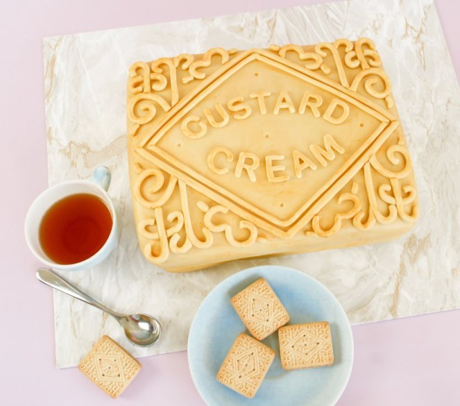 custard cream cake recipe