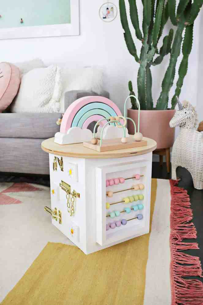 Toddler-Activity-Center-DIY