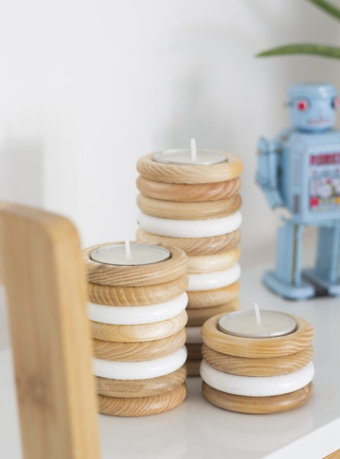 DIY-Wooden-Tea-Light-Candle-Holder