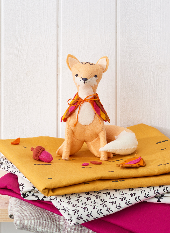 felt fox softie