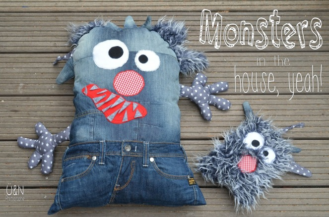 DIY denim monsters