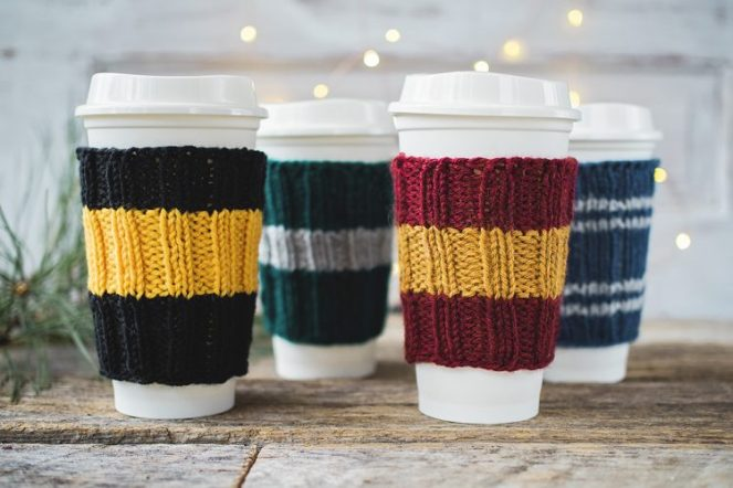 Harry potter cup cozies