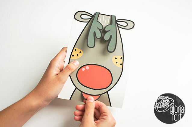 pop up rudolph-christmas-card