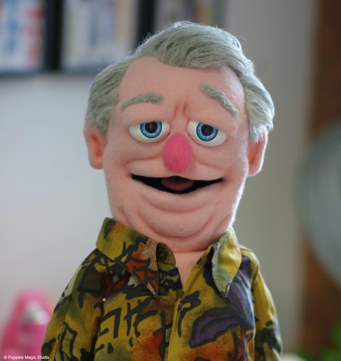 Puppets Magic pink-man-puppet
